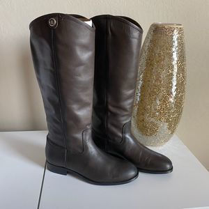 Frye Melissa Button 2 Tall Boots Brown Size 7.5